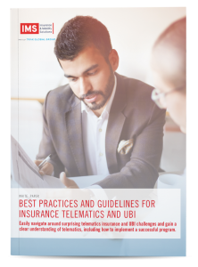 Best Practices and Guidelines for Insurance Telematics and UBI