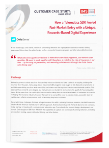 Onlia Sense – Telematics SDK Case Study