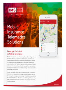 IMS Mobile Insurance Telematics Solutions