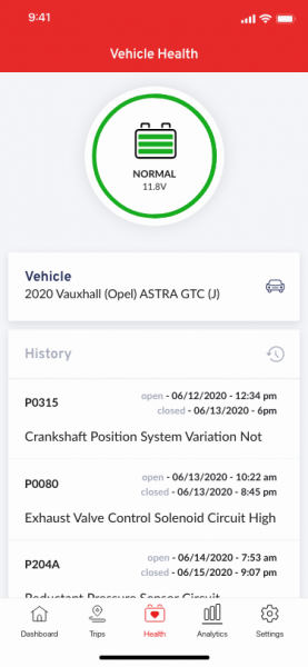 Vehicle health